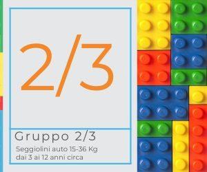 seggiolini auto gruppo 2-3